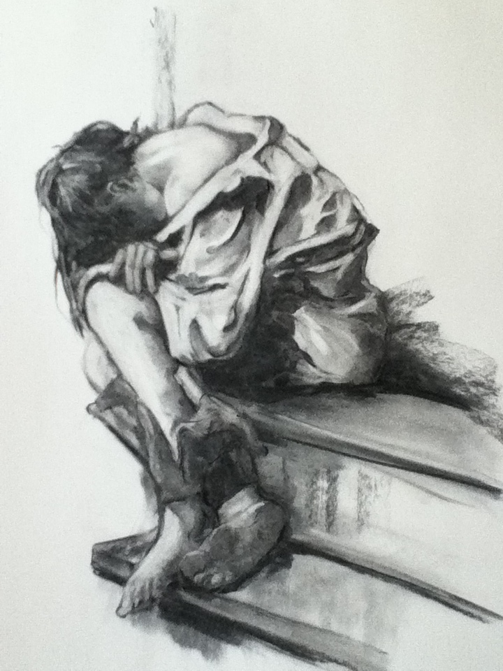Lost 18x24 Charcoal on paper 4-2012 fb